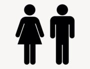 Frau & Mann Zeichen - Aufkleber für Gewerbe
