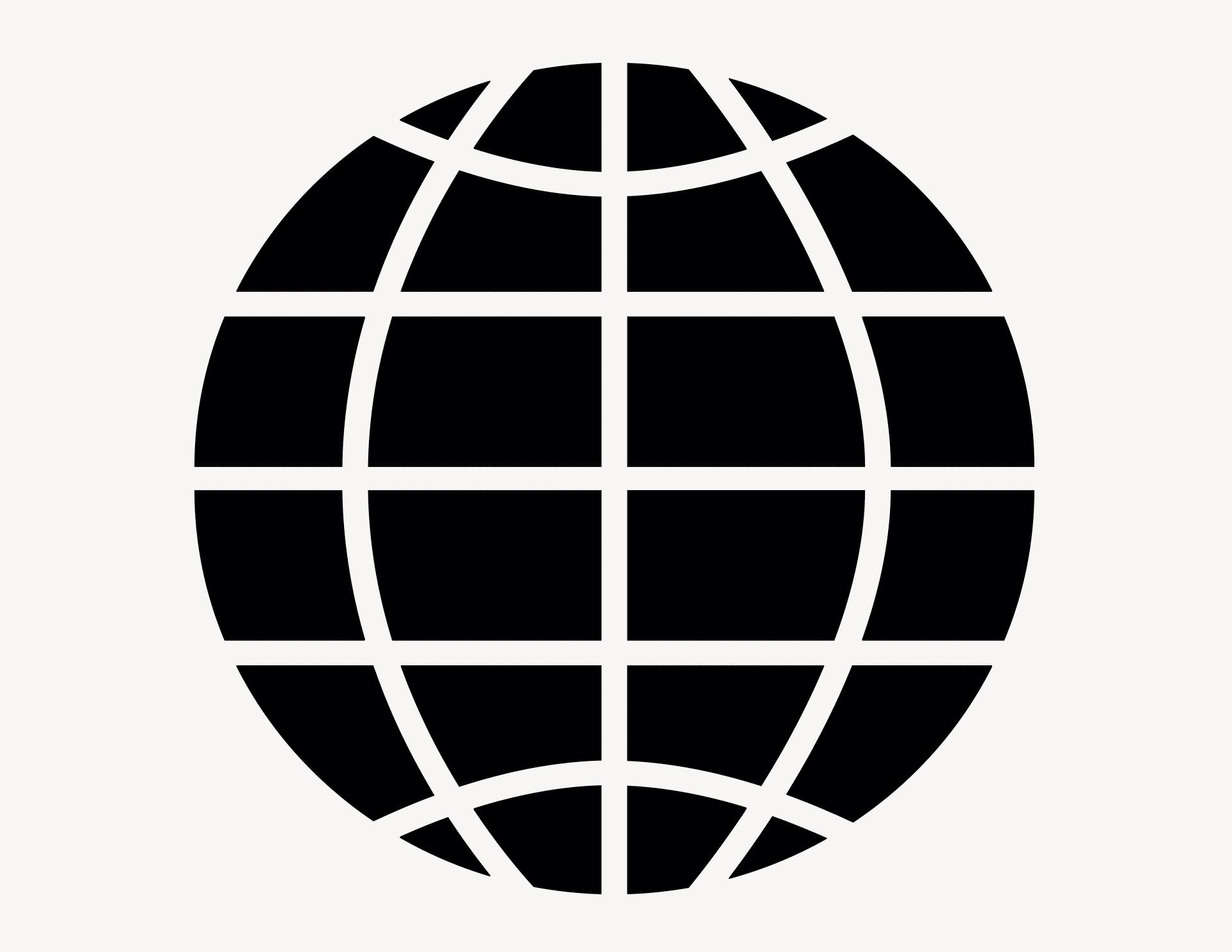 Globus #1 - Aufkleber für Gewerbe