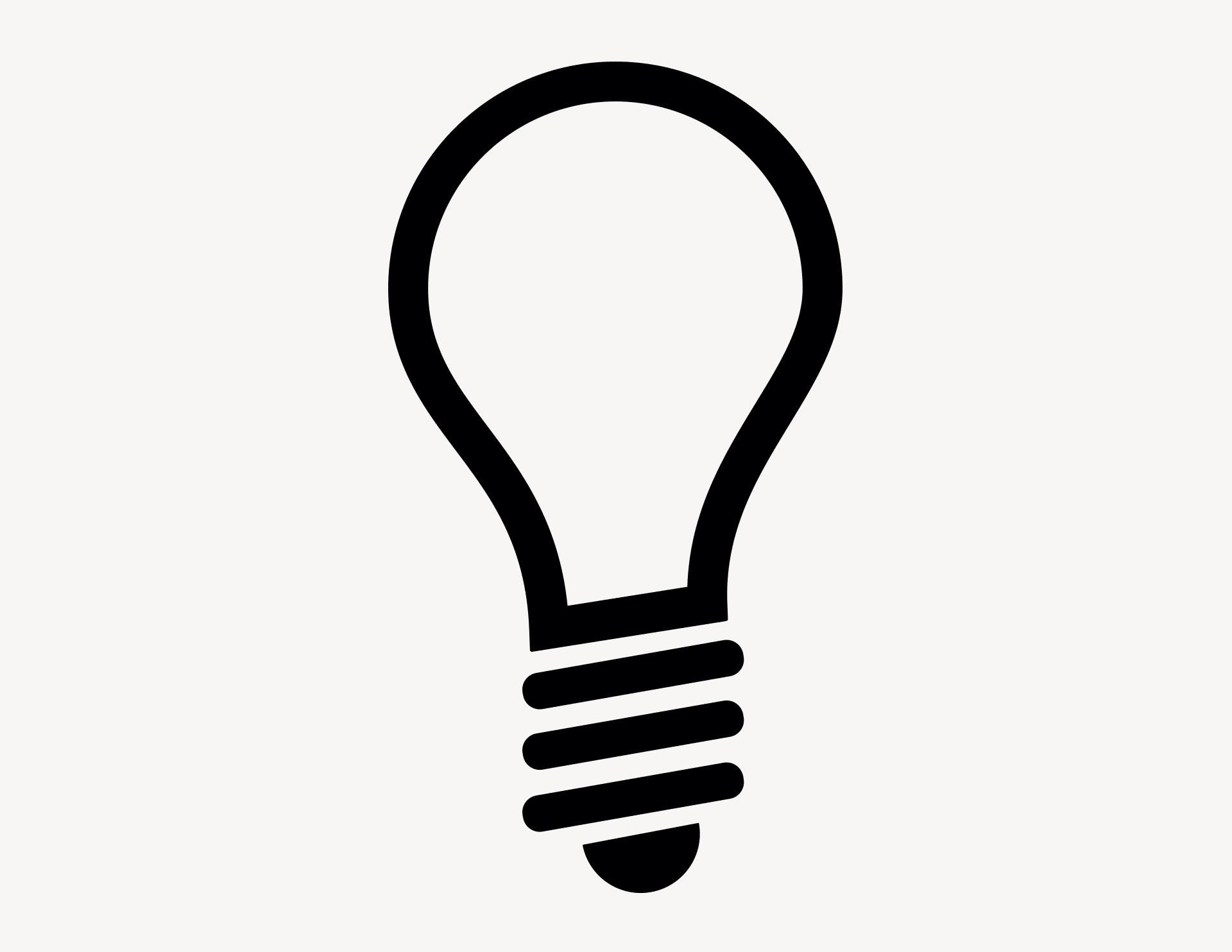 Glühbirne - Aufkleber für Gewerbe