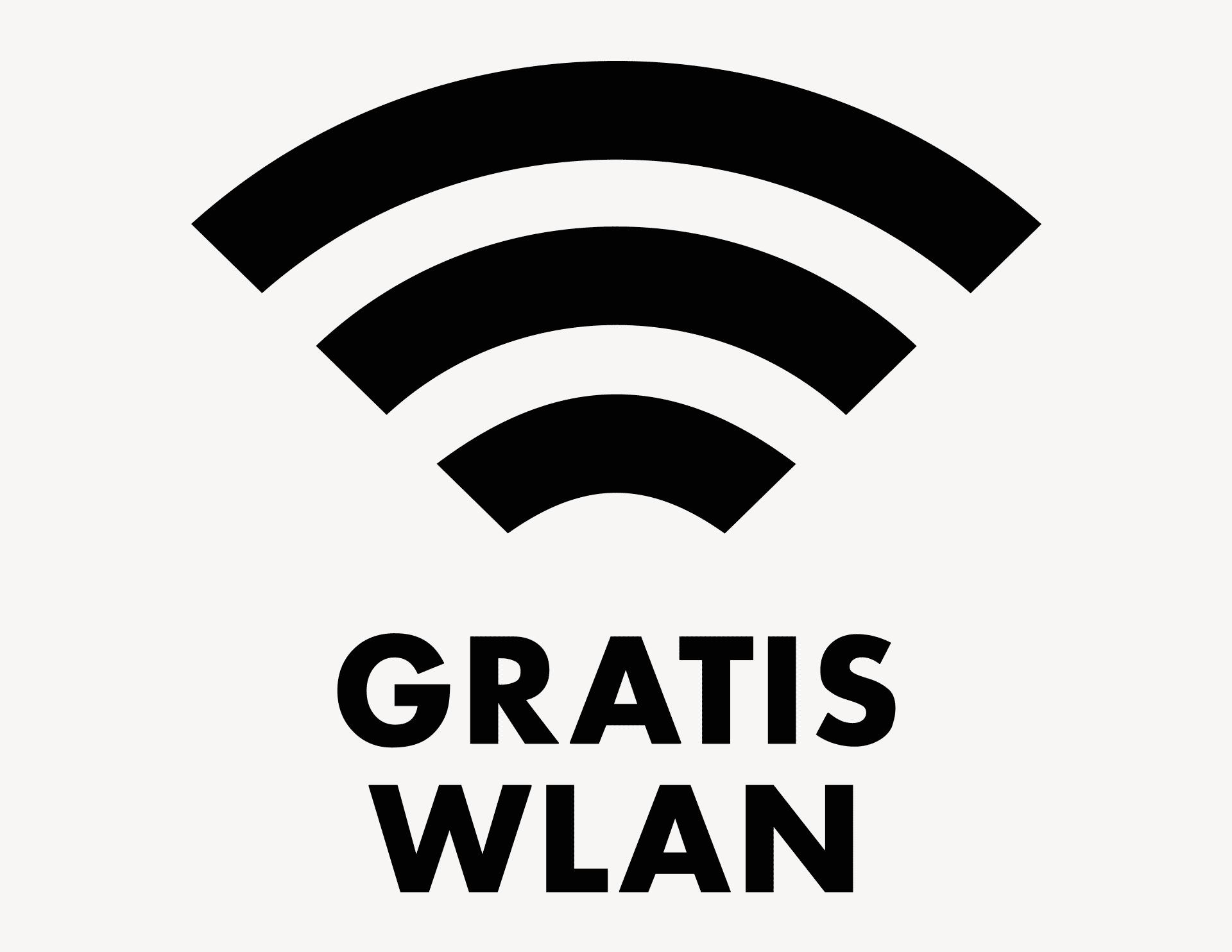 GRATIS WLAN - Aufkleber für Gewerbe