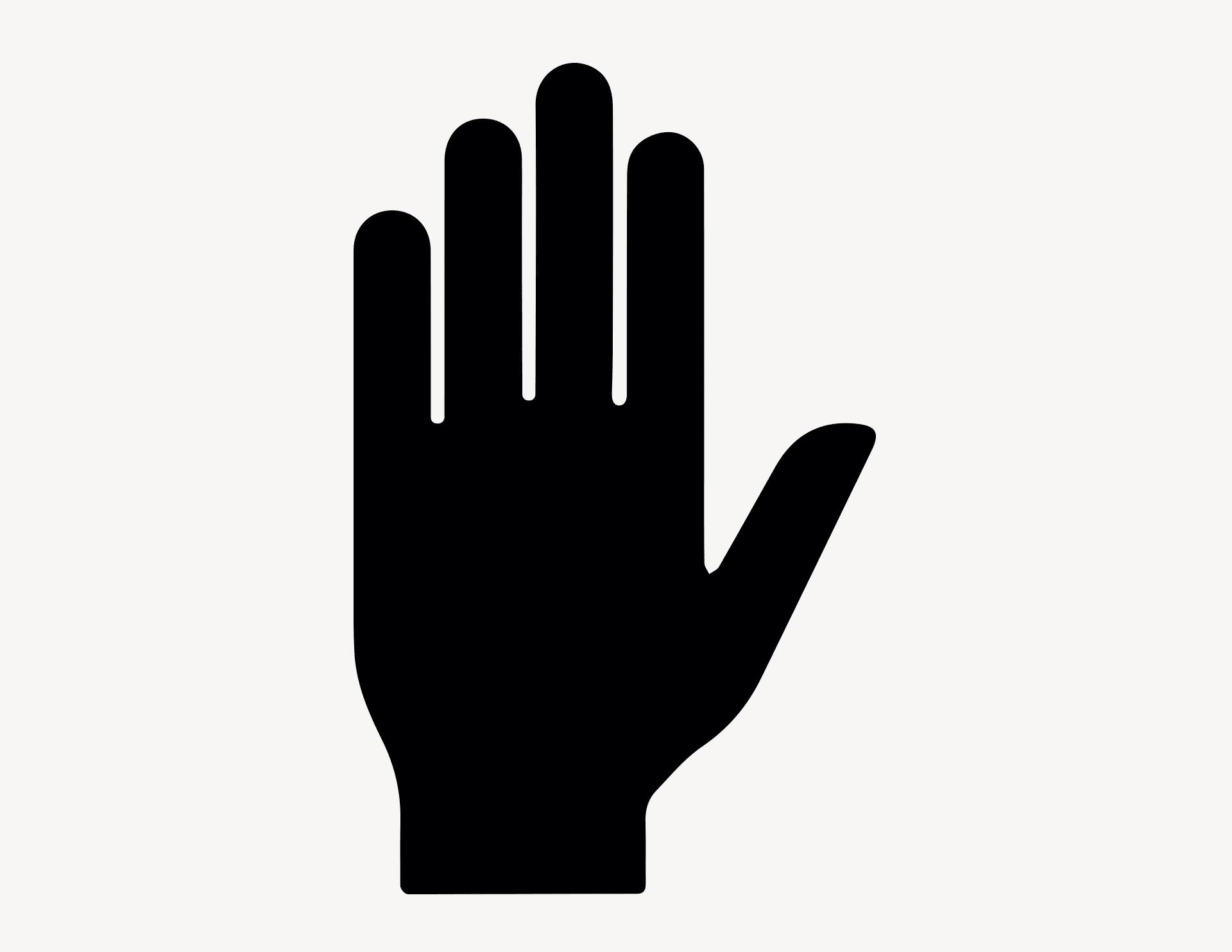 Hand High-Five - Aufkleber für Gewerbe