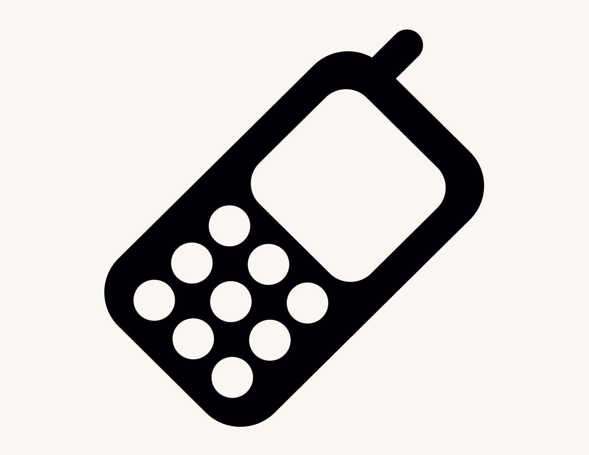 Handy - Aufkleber für Gewerbe