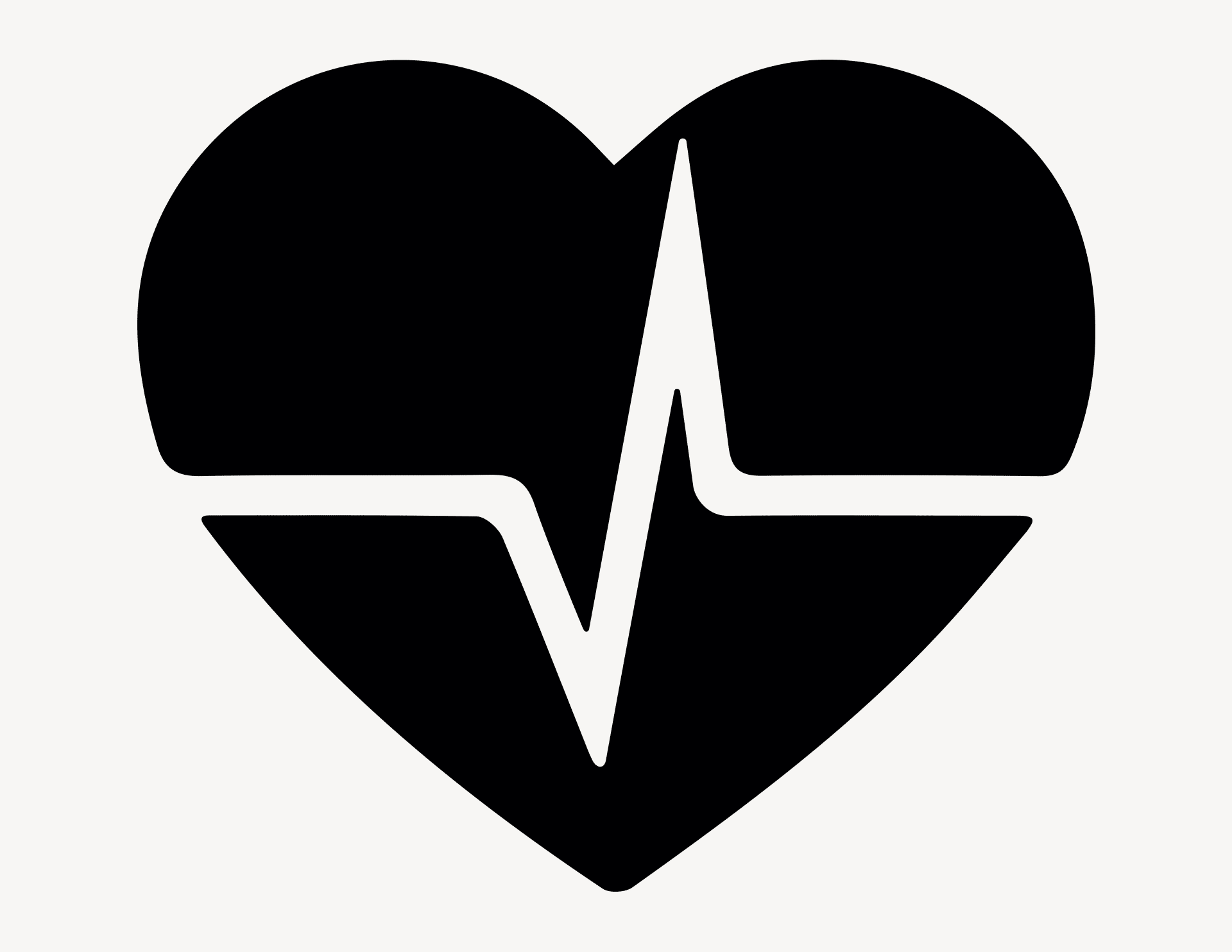 Herzschlag - Aufkleber für Gewerbe