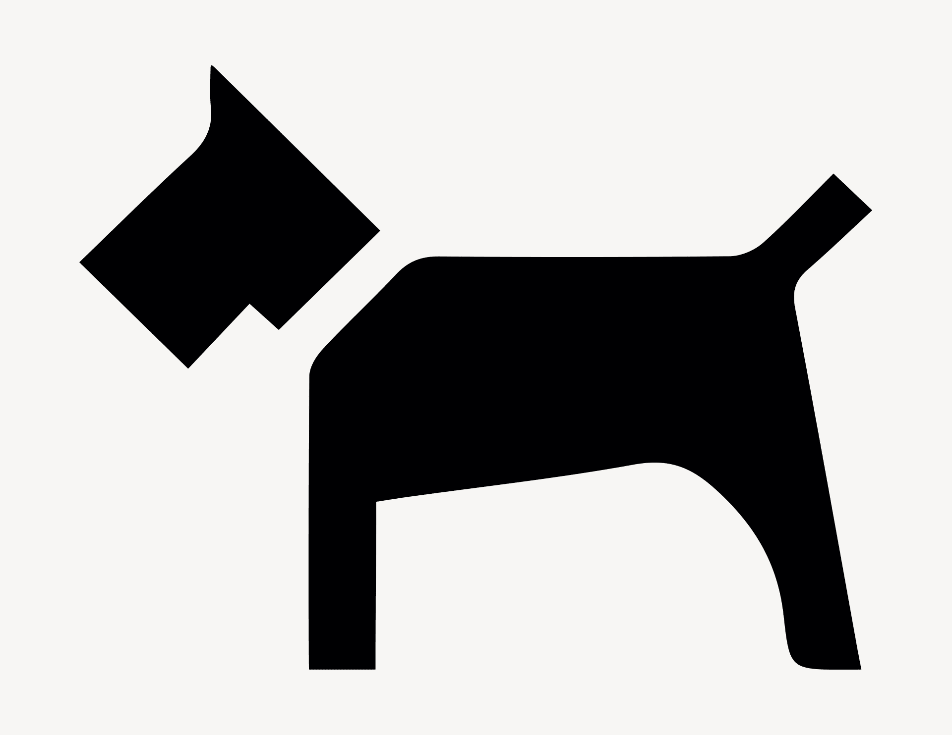 Hund - Aufkleber für Gewerbe