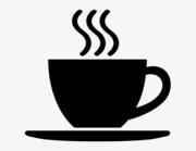 Kaffeetasse #2 - Aufkleber für Gewerbe
