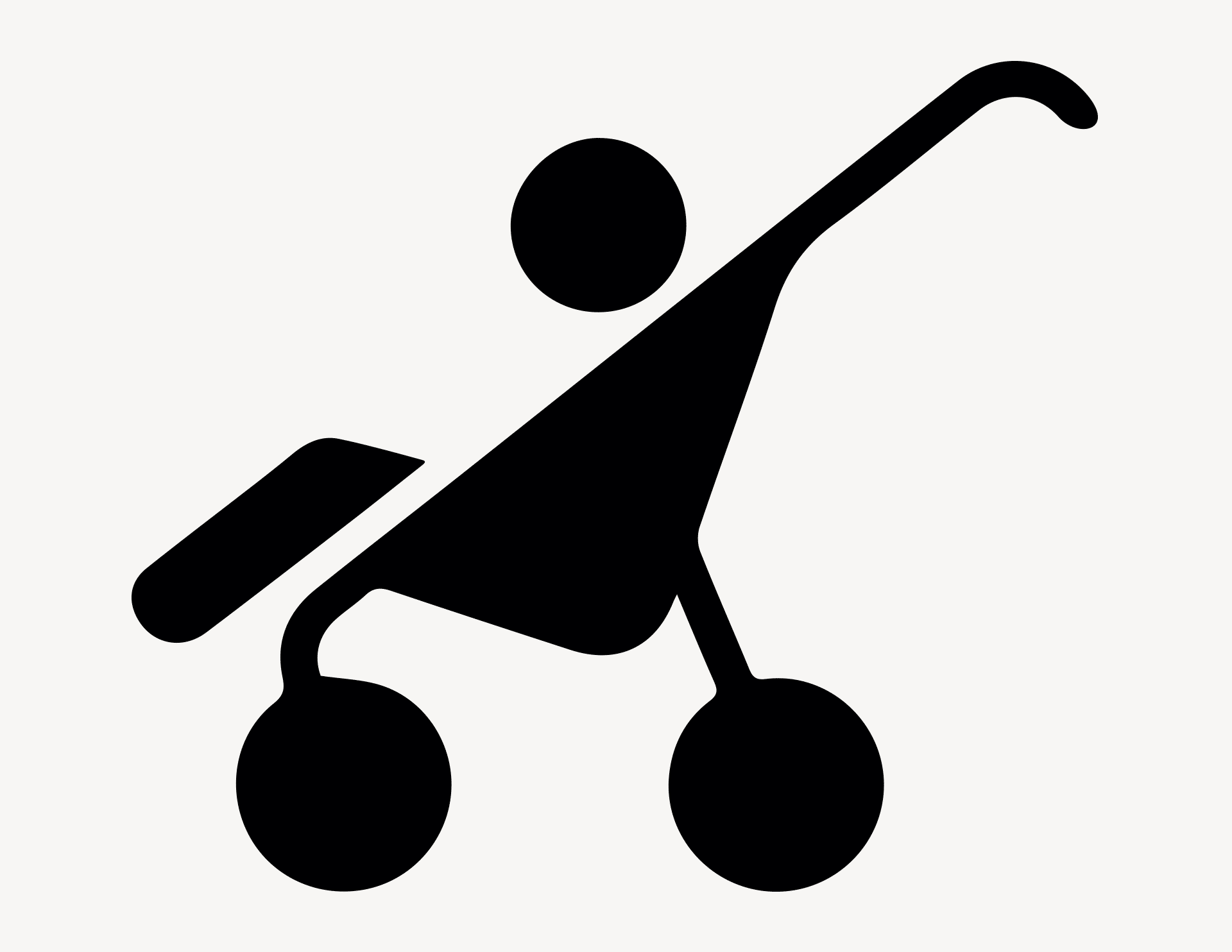 Kindersportwagen - Aufkleber für Gewerbe