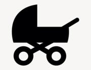 Kinderwagen - Aufkleber für Gewerbe