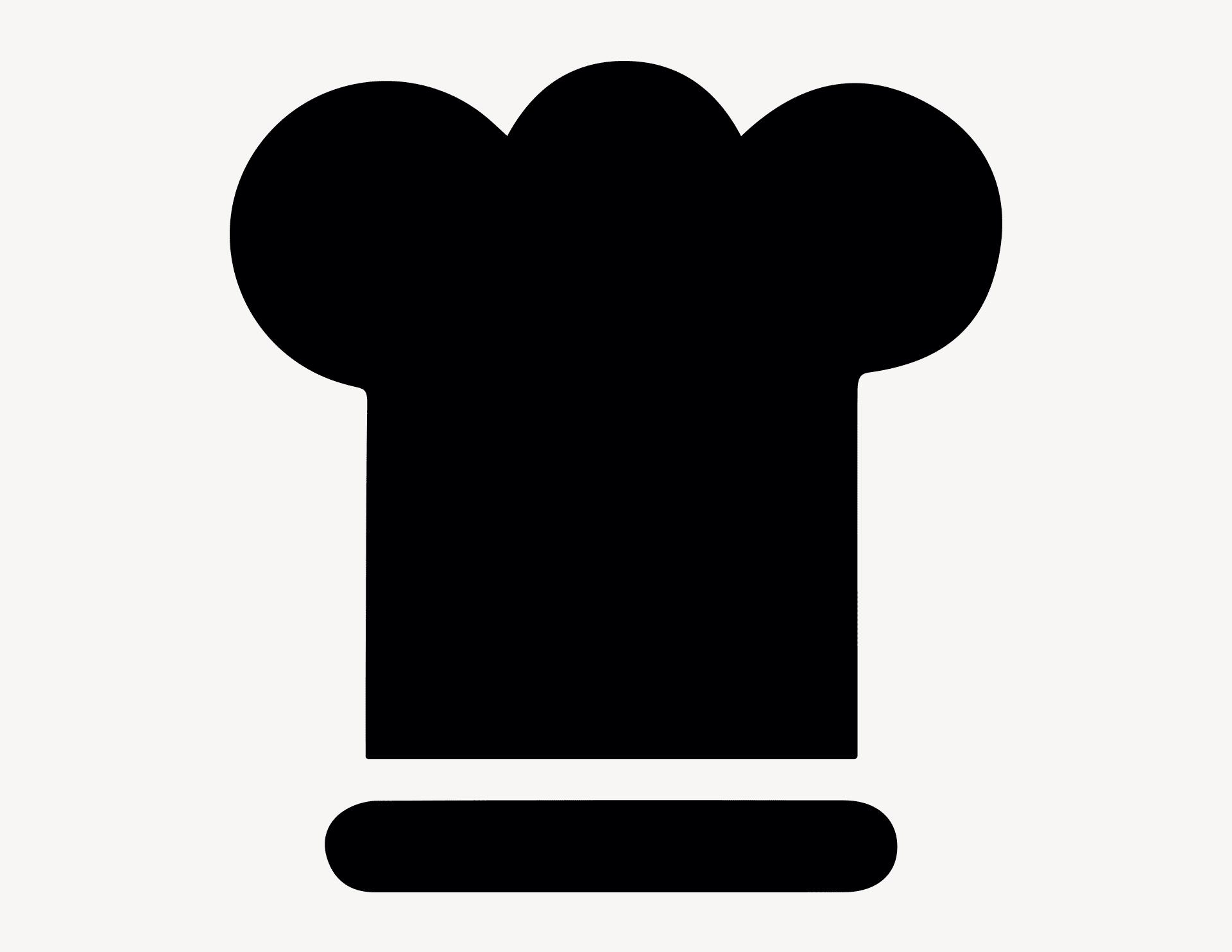 Kochmütze - Aufkleber für Gewerbe
