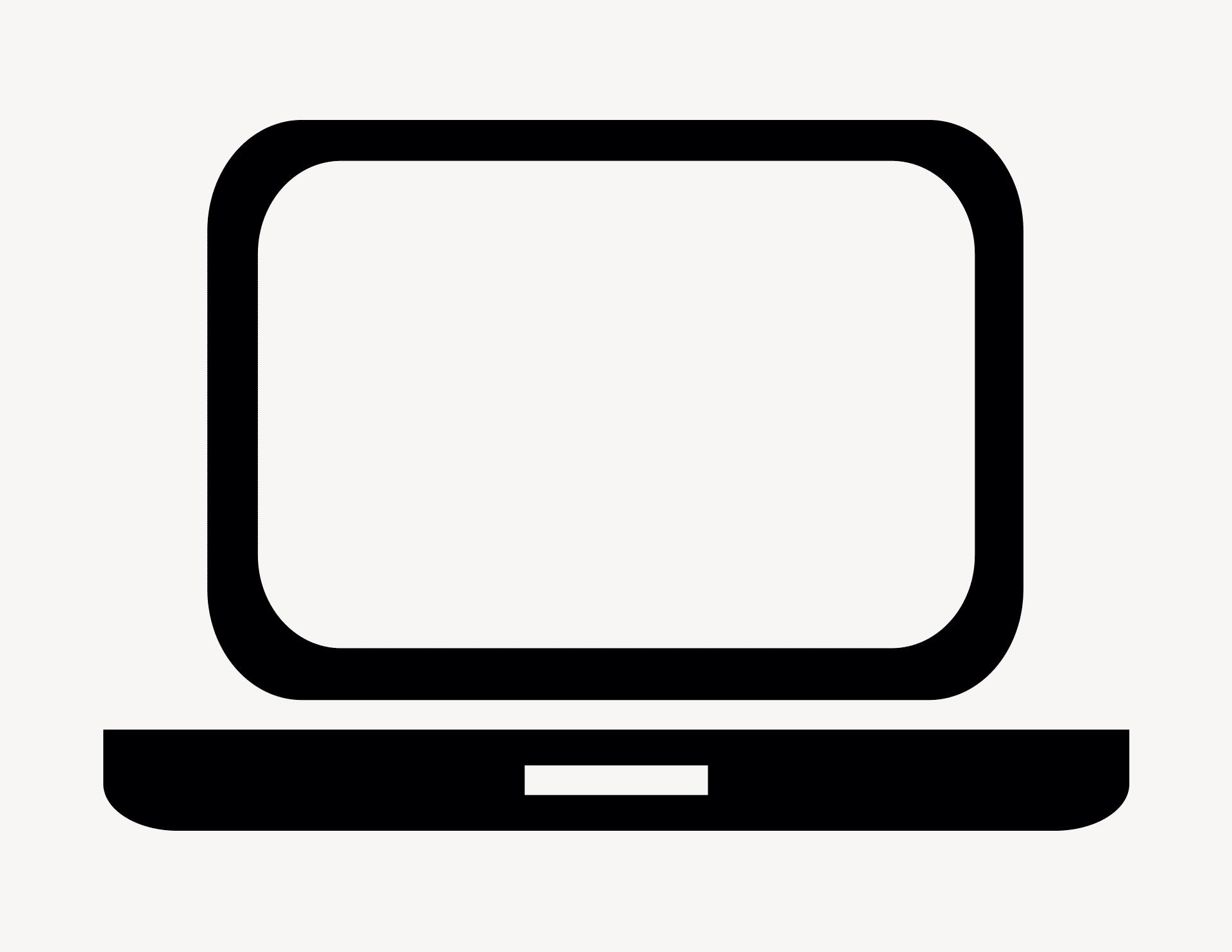 Laptop - Aufkleber für Gewerbe