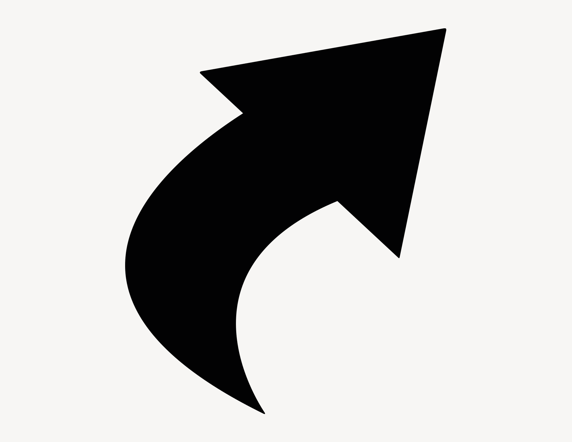 Pfeil Finn-Curve rechts - Aufkleber für Gewerbe