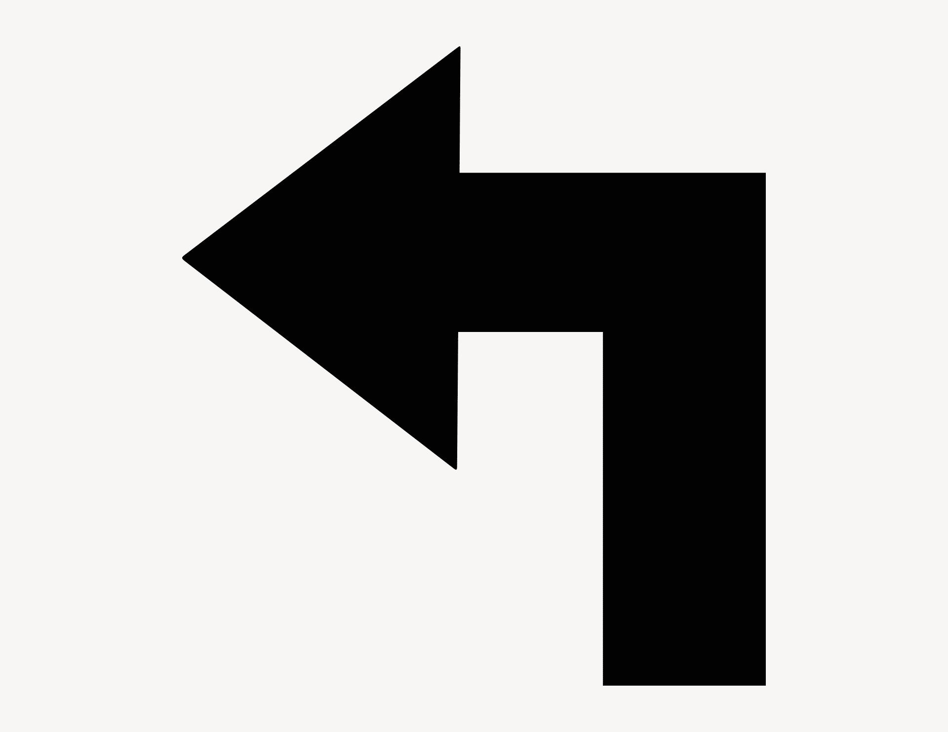 Pfeil Finn-Ecke links - Aufkleber für Gewerbe