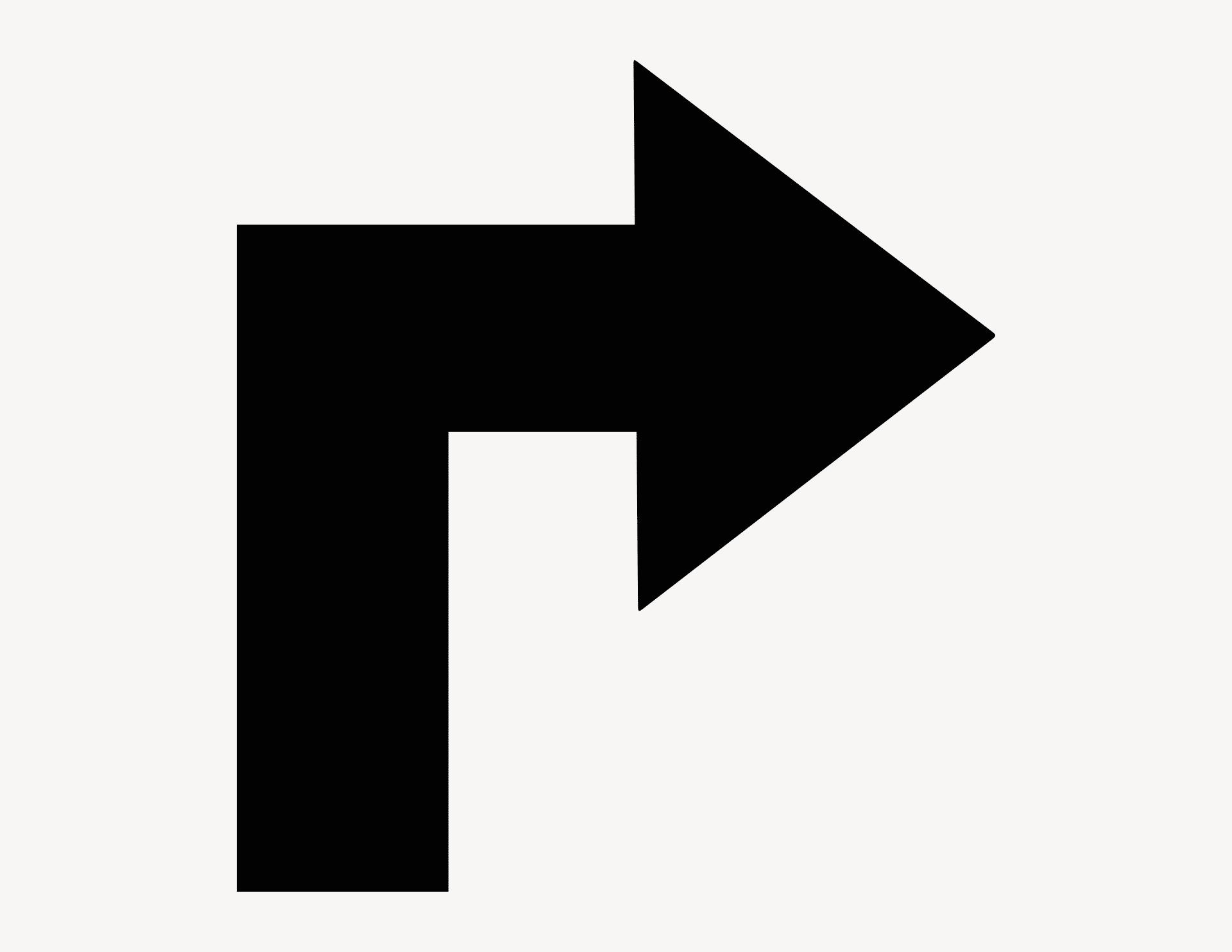 Pfeil Finn-Ecke rechts - Aufkleber für Gewerbe