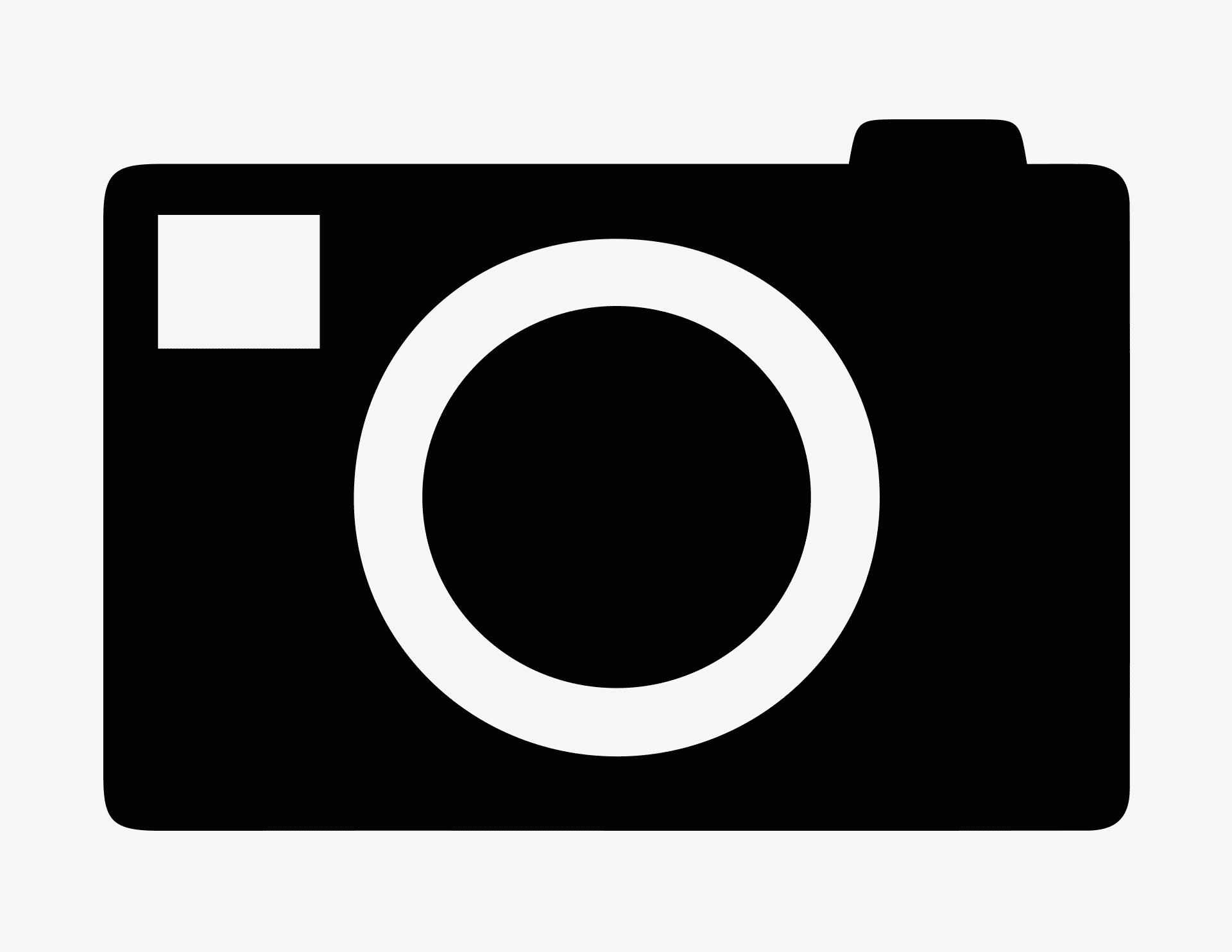Photokamera - Aufkleber für Gewerbe
