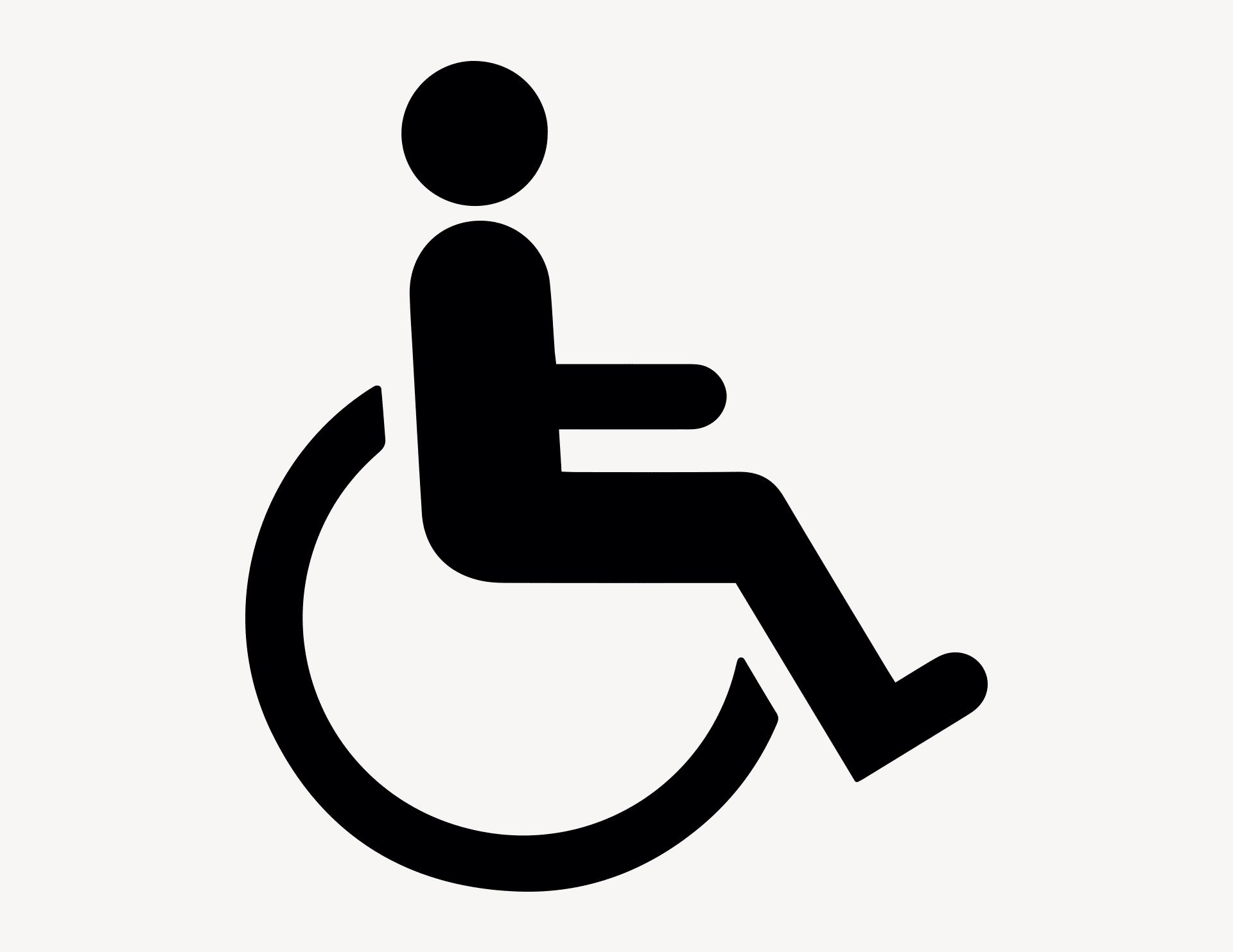 Rollstuhl - Aufkleber für Gewerbe