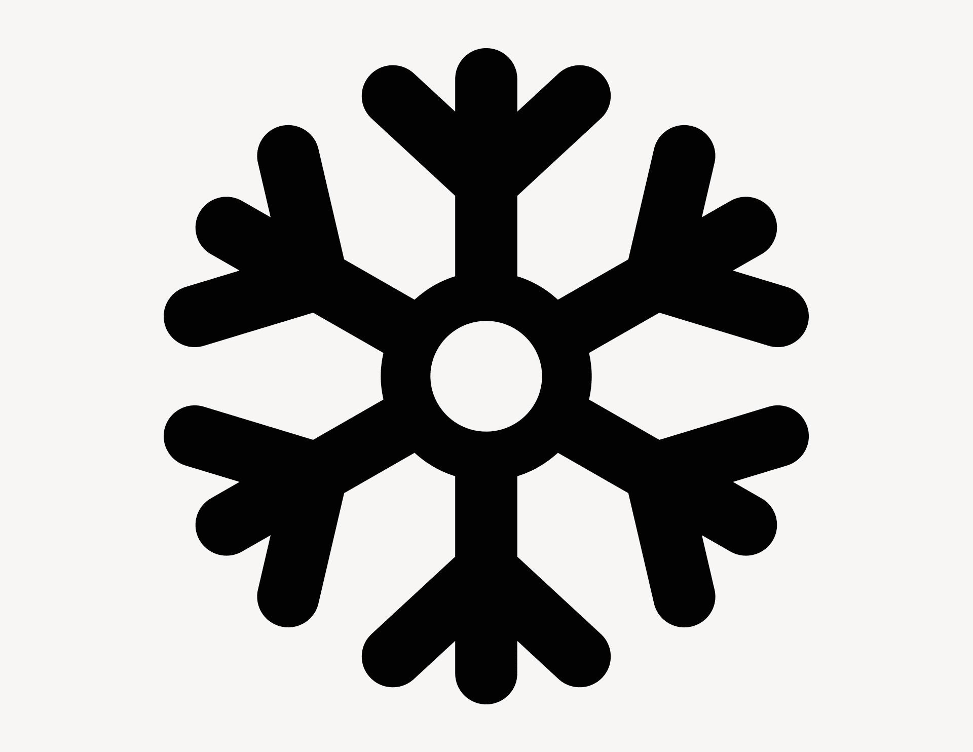 Schneeflocke - Aufkleber für Gewerbe
