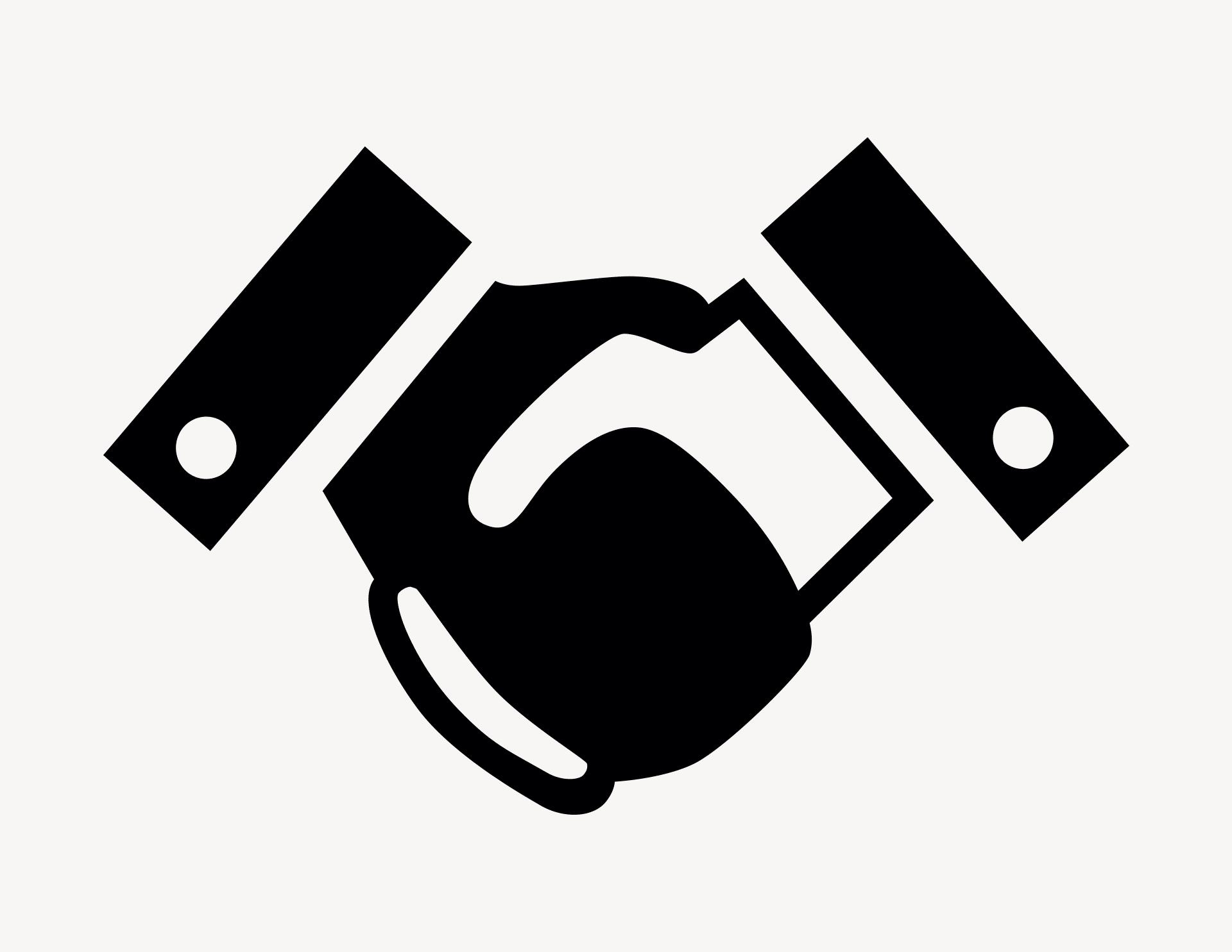 Shake Hands - Aufkleber für Gewerbe