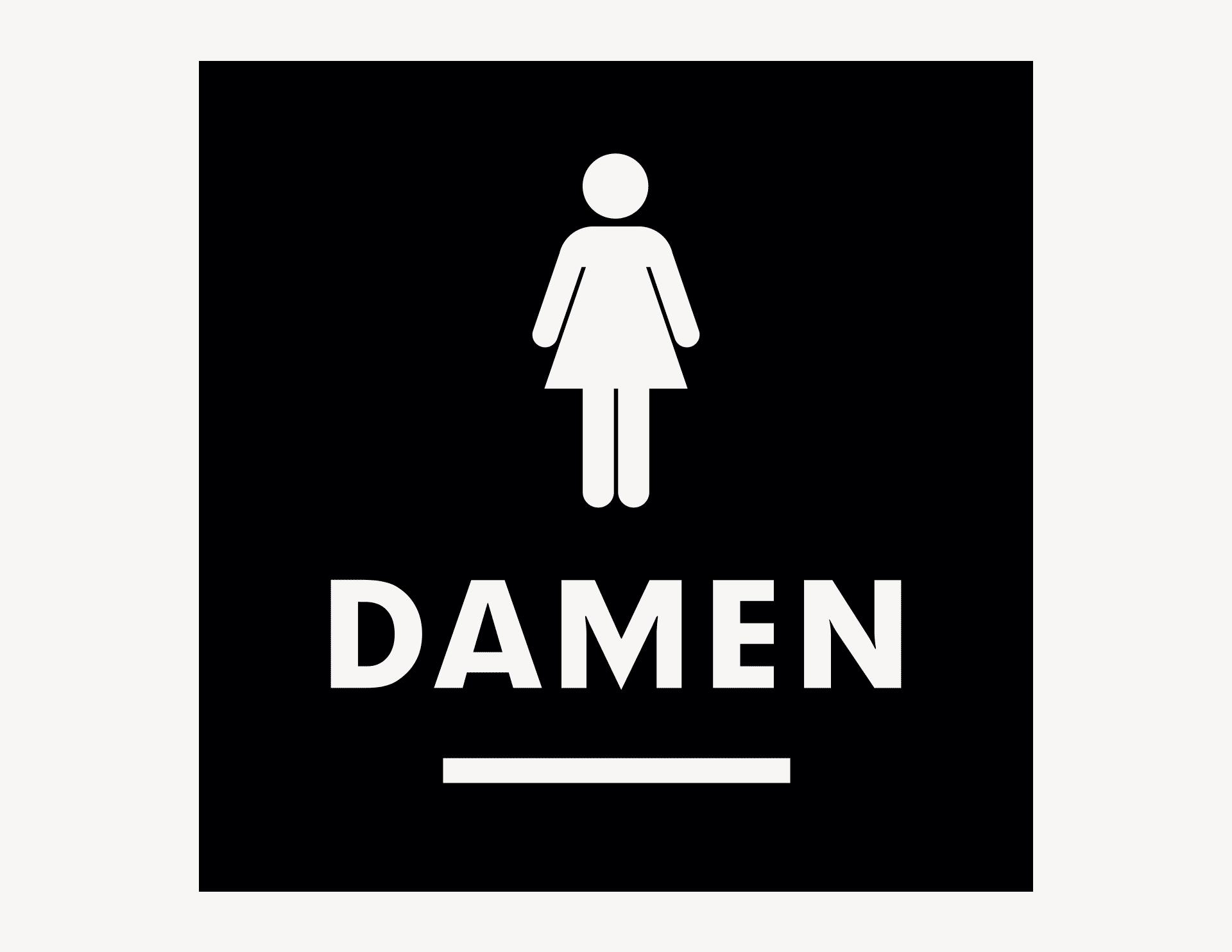 WC Damen #1 - Aufkleber für Gewerbe