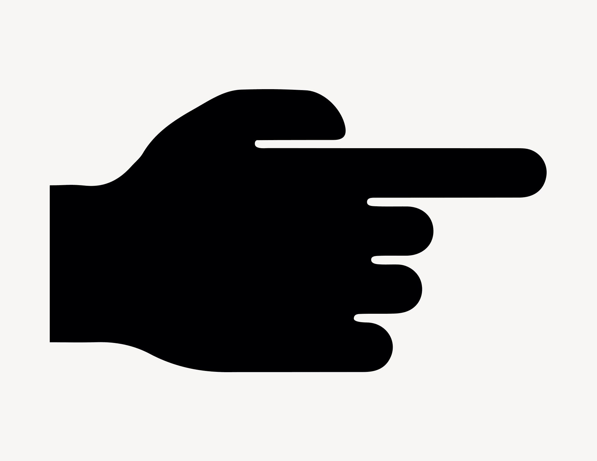 Zeigefinger rechts - Aufkleber für Gewerbe