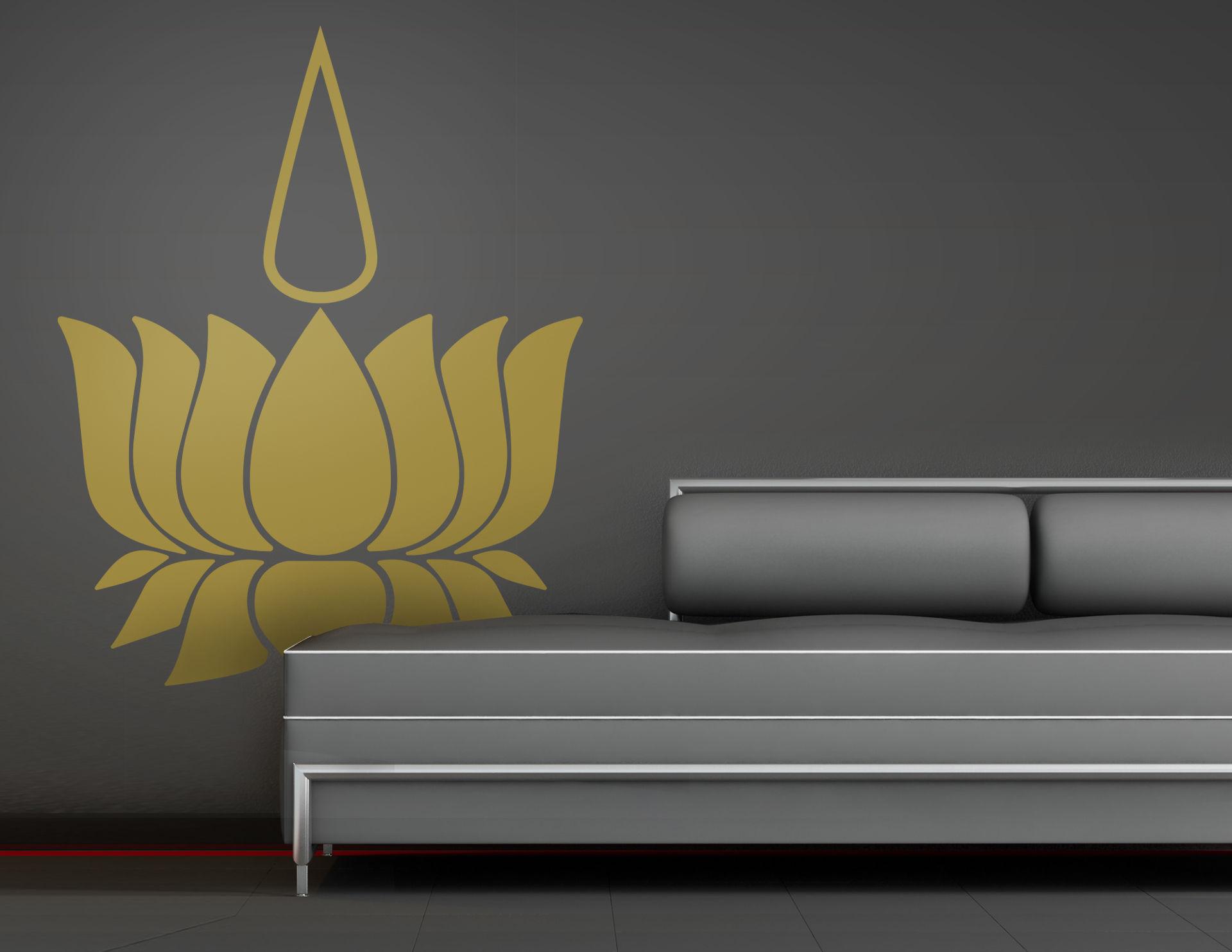 Wandtattoo Golden Light Lotus
