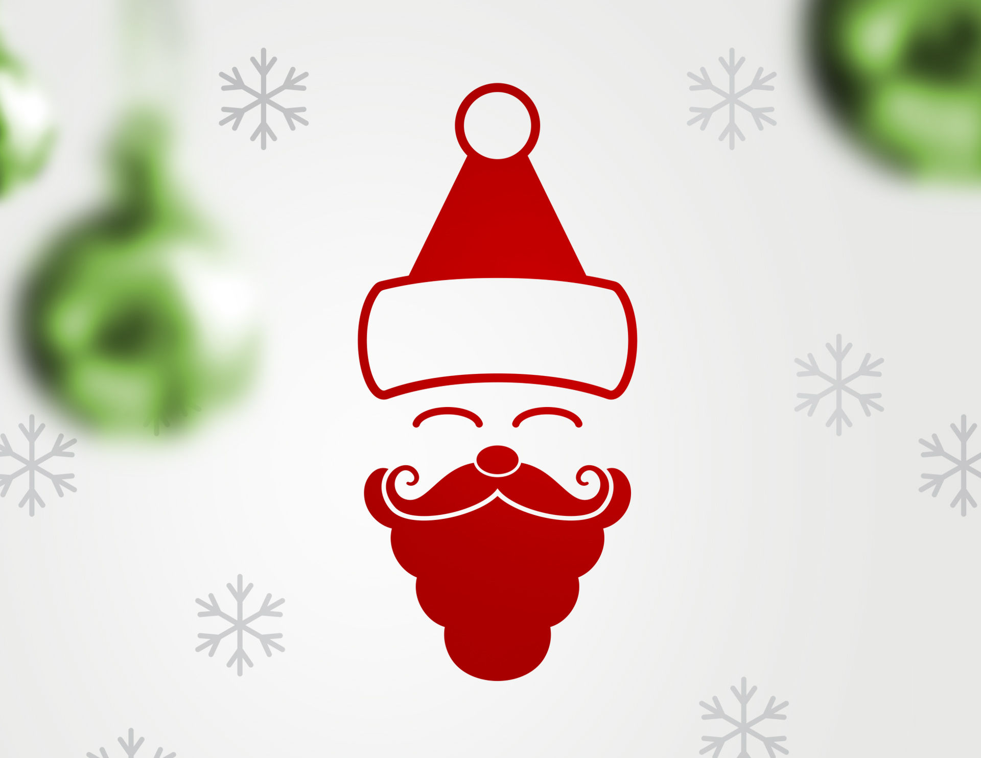Wandtattoo Happy Santa