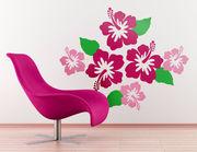 Wandtattoo Hibiskusblüten