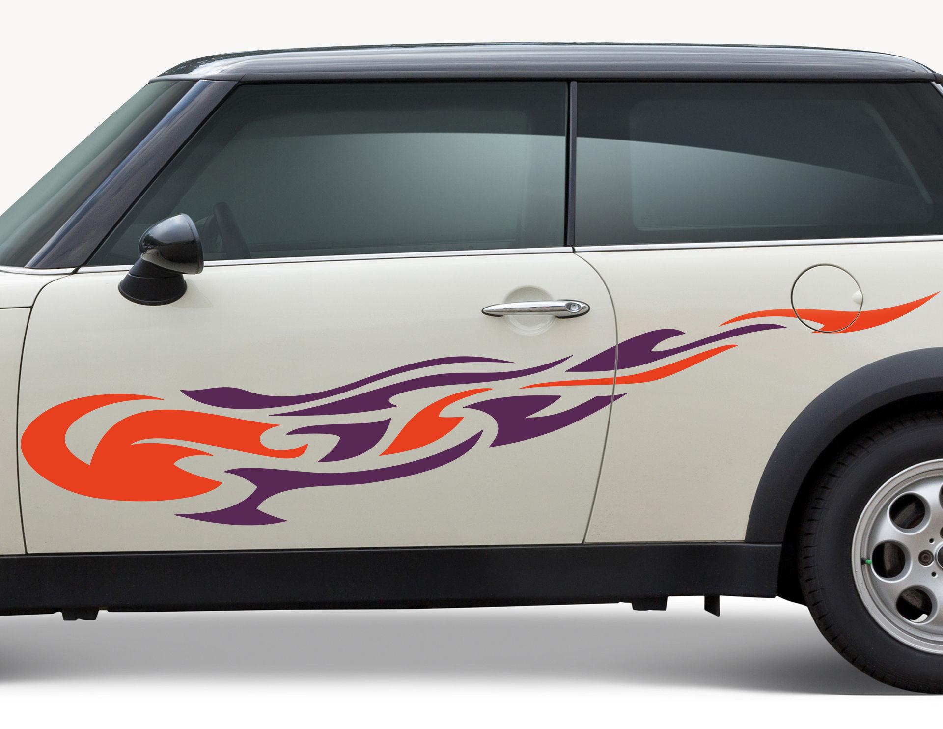 Autoaufkleber Hot-Fame-Flame-Set