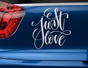 """Autoaufkleber """"Just Love"""": Denn nur die Liebe zählt!"""