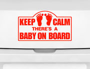 "Autoaufkleber ""Keep Calm Baby"": Keep Calm, Baby on Board!"