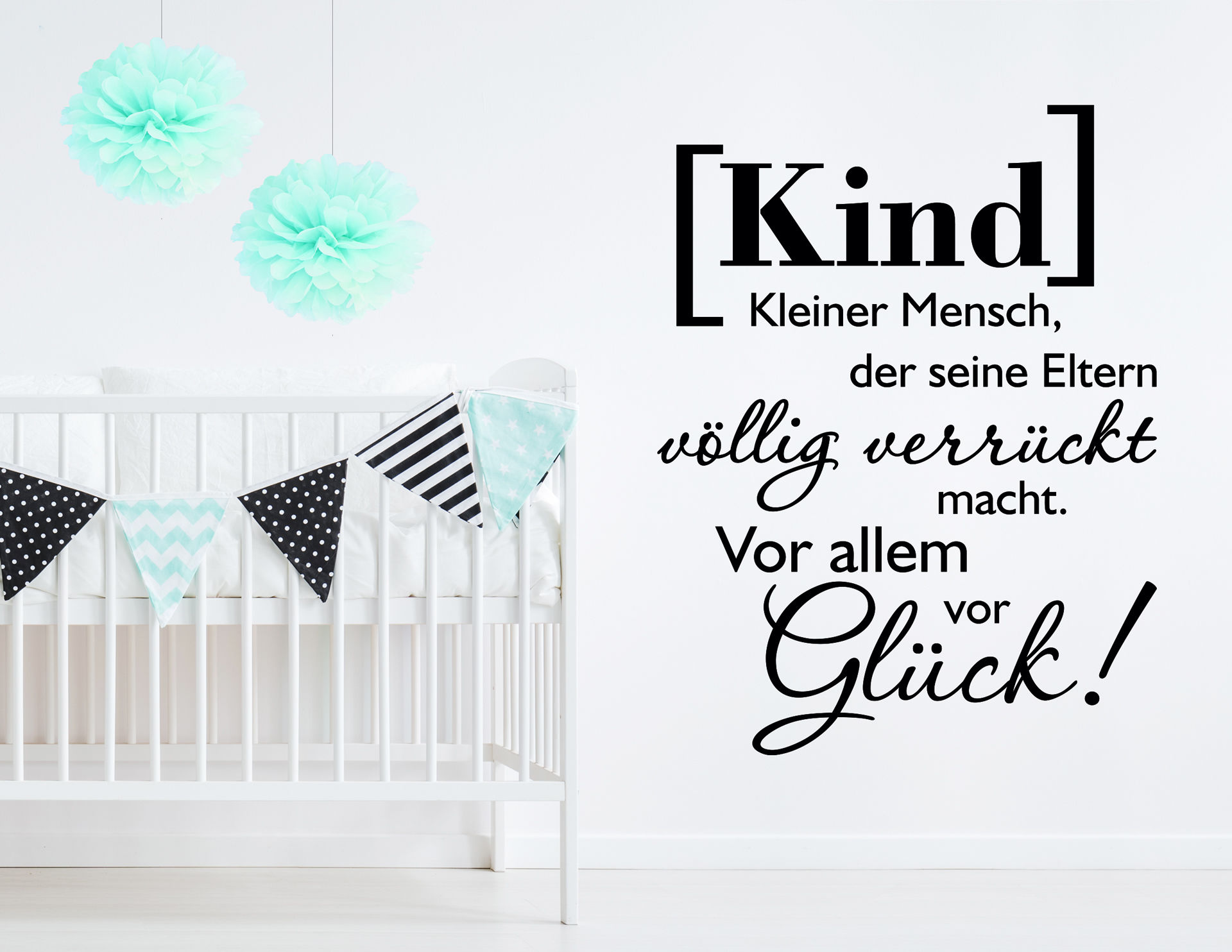 """sprüche über kinderglück Wandtattoo """"Kinderglück"""" definiert Glück neu sprüche über kinderglück"""