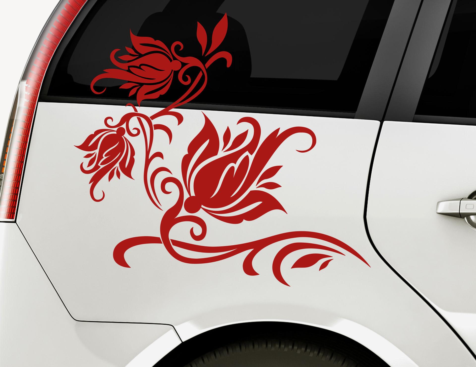 Autoaufkleber Kiss of Rose-Set