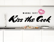 Wandtattoo Kiss the Cook