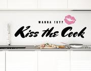 Wandtattoo Kiss the Cook