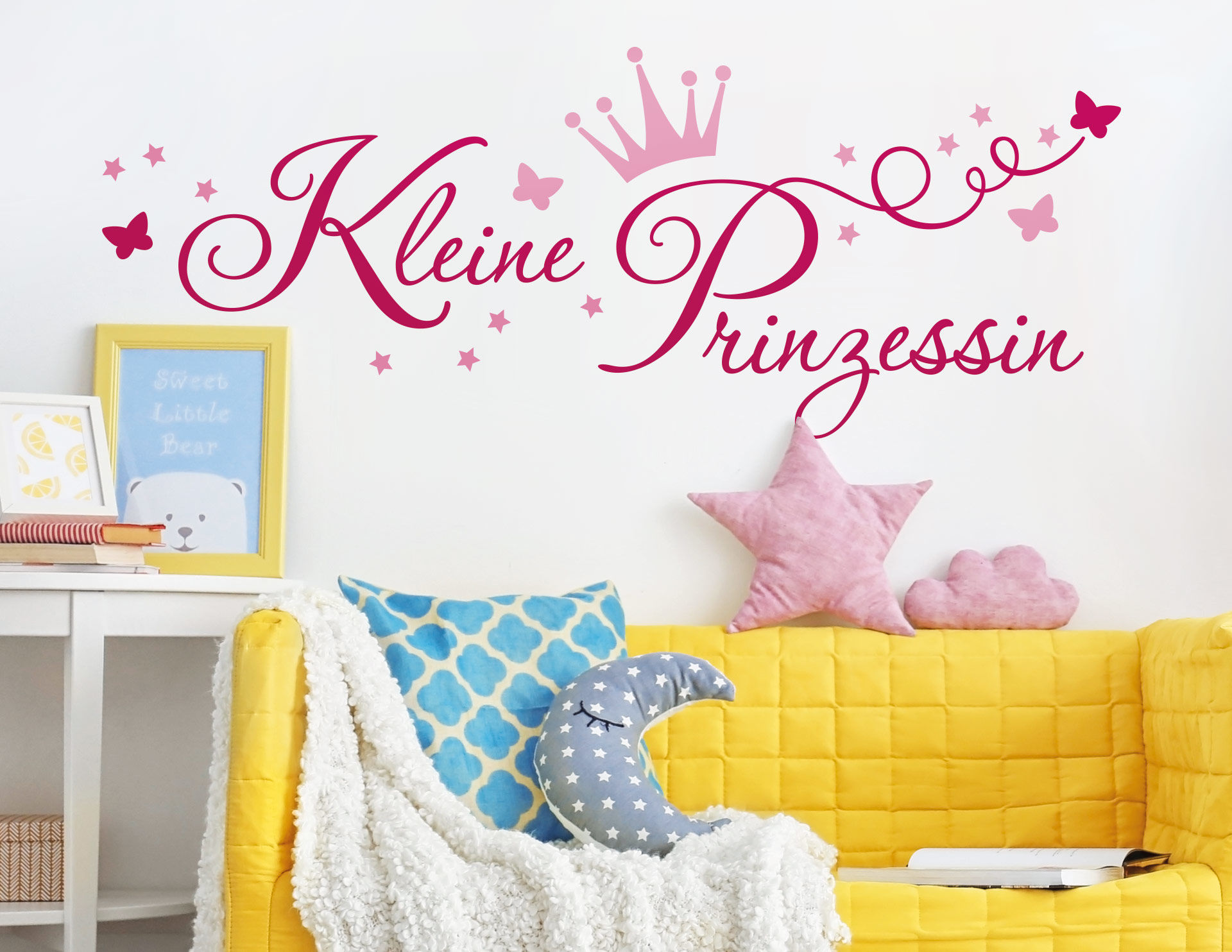 wandtattoo kleine prinzessin. Black Bedroom Furniture Sets. Home Design Ideas