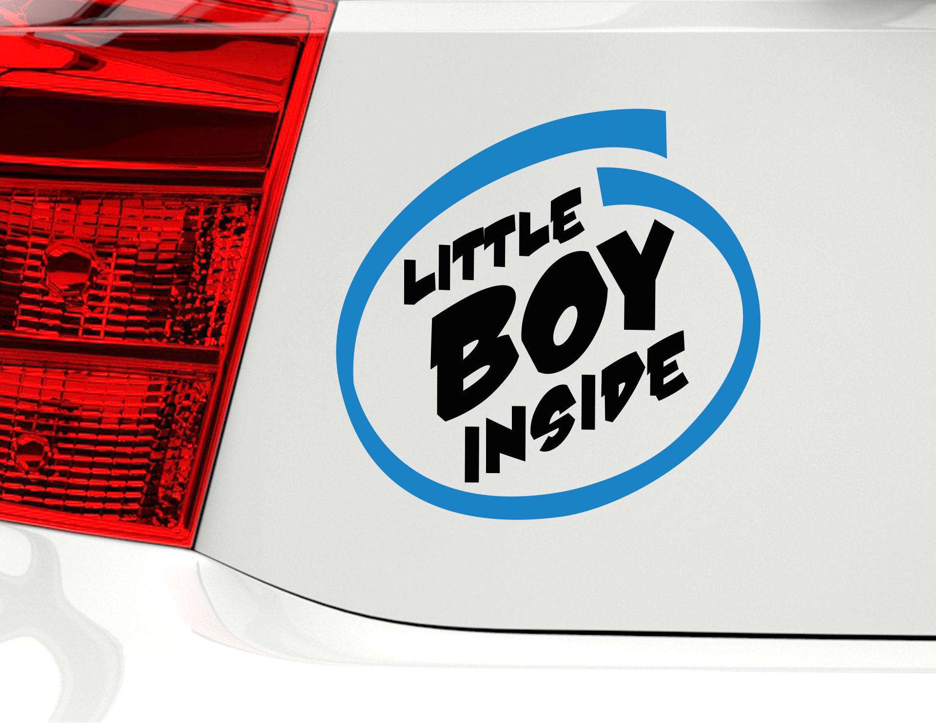 Autoaufkleber Little Boy Inside