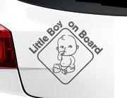 """Autoaufkleber """"Boy on the Road"""" mit süßem Baby-Jungen"""