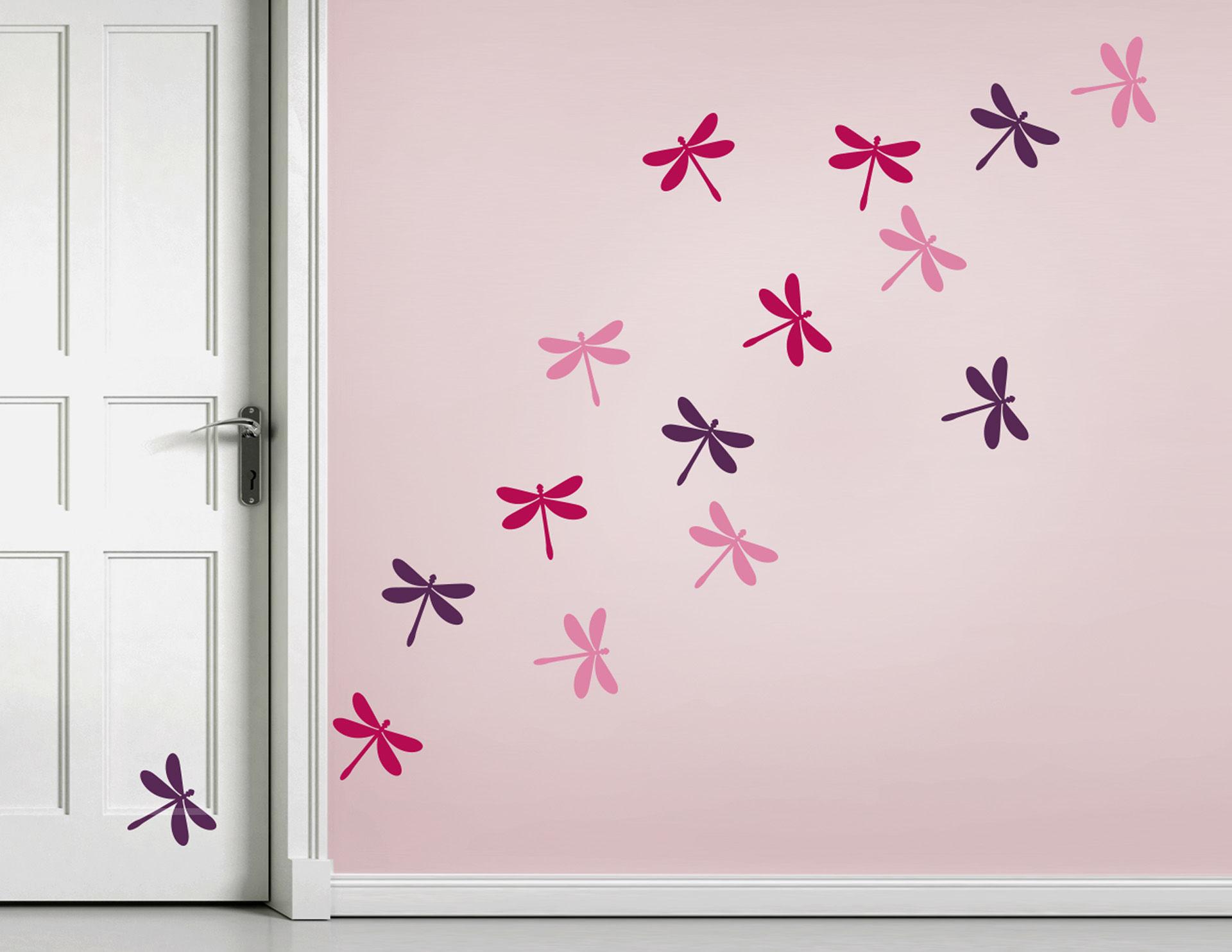 Wandtattoo Little Dragonflies