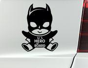 """Autoaufkleber """"Li'l Hero"""" für große und kleine Comic-Fans"""