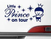"Autoaufkleber ""Little Prince on Tour"" für royale Beifahrer"