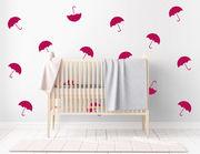 Wandtattoo Little Umbrellas