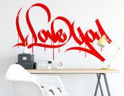 """Wandtattoo """"Love in Graffiti"""" drückt Liebe aus"""