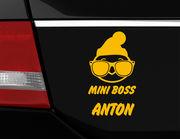 """Wer ist hier der Boss? Autoaufkleber """"Mini Boss"""" für's Auto"""