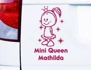 """Autoaufkleber """"Cutie Queen"""" für Ballerinas & Prinzessinnen"""