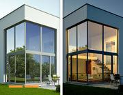 Gebäude-Sonnenschutzfolie SilverPro Medium auf Wunschmaß
