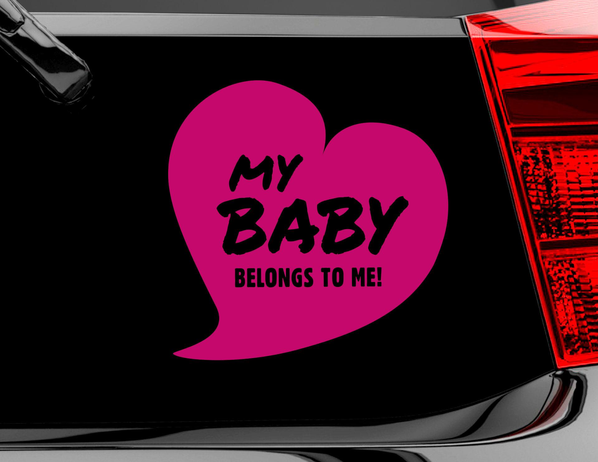 Autoaufkleber My Baby