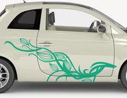 Autoaufkleber Obsession-Flower-Set