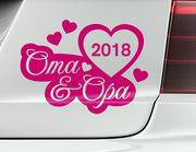 "Autoaufkleber ""Oma & Opa on Tour"" mit Wunsch-Jahr"