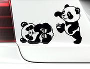 """Autoaufkleber """"Babypandas Lou & Lala"""" zückersüß & verspielt"""