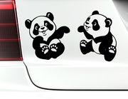"""Autoaufkleber """"Babypandas Lee & Lolo"""" machen gute Laune"""