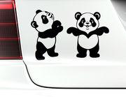 """Autoaufkleber """"Babypandas Mia & Momo"""" mit zwei Knuddelbären"""