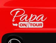 """Autoaufkleber """"Papa on Tour"""" für die volle Dad-Power"""